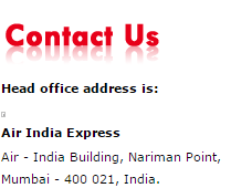 air india head office addresss air india express Uae customer care contact help line srervice toll free number