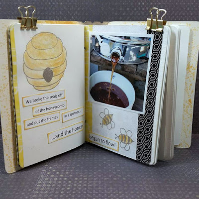 Passport Book featuring Serenade Papers and PowderPuff Chalk Inks by Quick Quotes and Stamps by Joy Clair designed by Susie Bentz