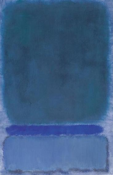 algunos azules de Mark Rothko