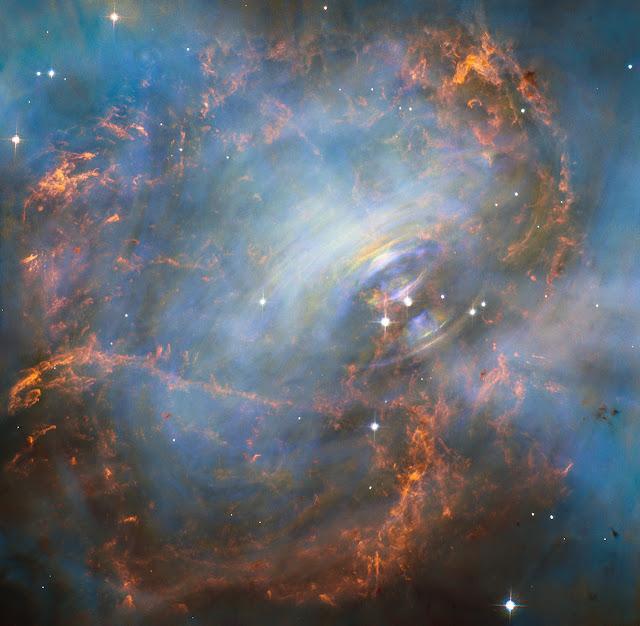 Nhịp tim của Tinh vân Con cua. Credit : NASA, ESA - Acknowledgment: J. Hester (ASU), M. Weisskopf (NASA / GSFC).