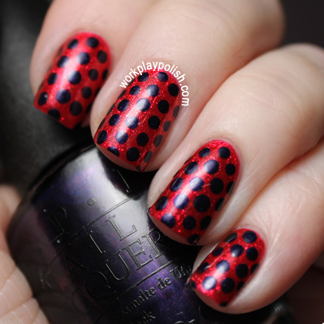 OPI You Only Live Twice with OPI Russian Navy Dots (work / play / polish)