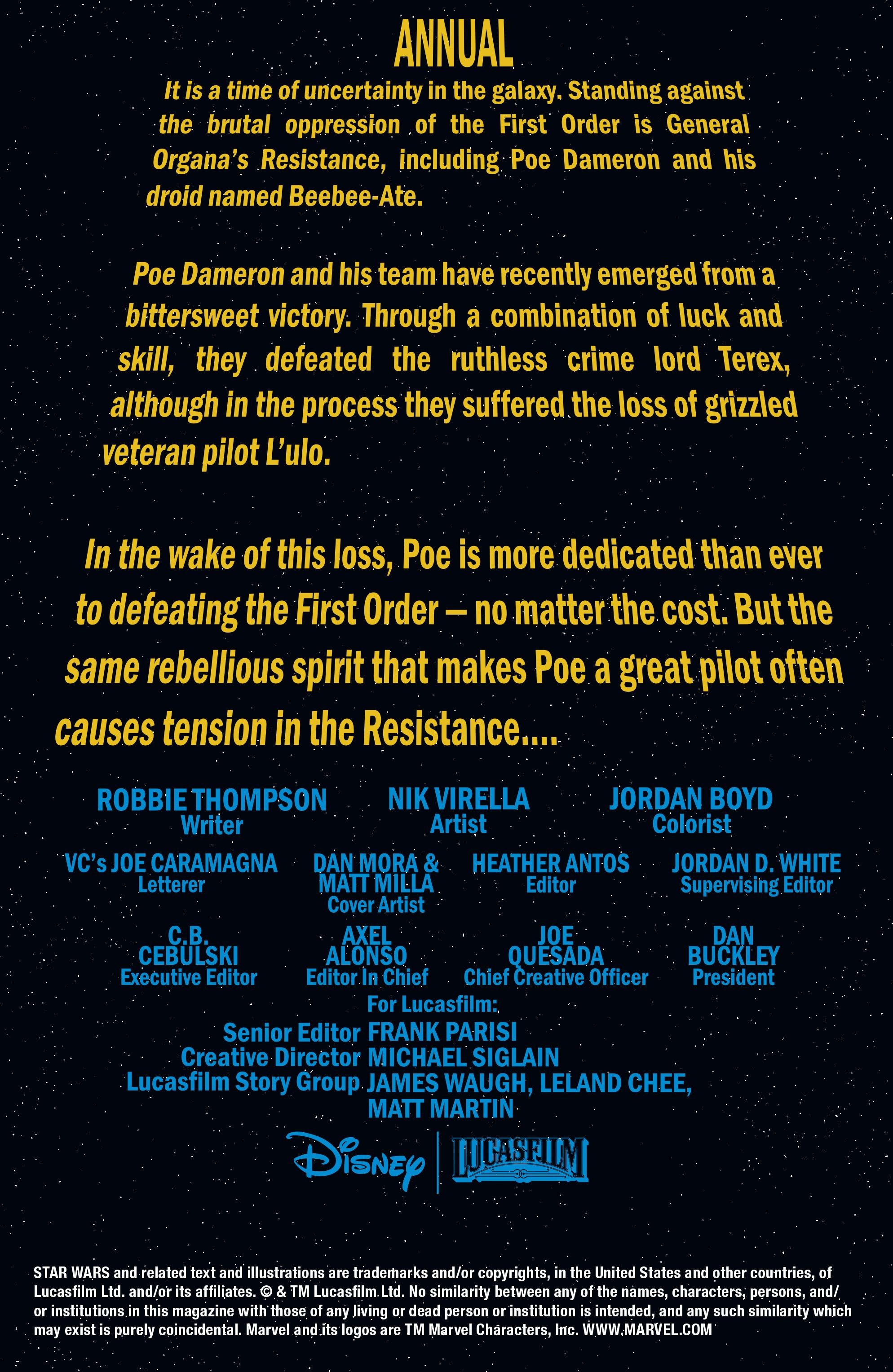Read online Star Wars: Poe Dameron comic -  Issue # _Annual 1 - 2