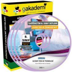 Görüntülü 8.Sınıf Fen ve Teknoloji Eğitim Seti 8 DVD