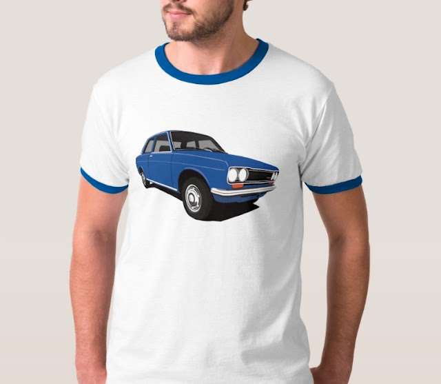 Dark blue Datsun Bluebird 1600 510 t-shirts