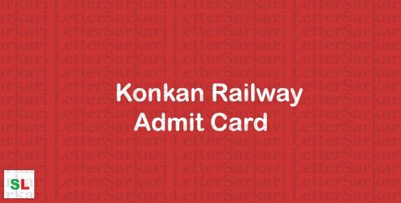 Konkan Railway JE Admit Card 2019