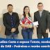 Prefeita Eudina Costa e esposo Totota, recebem a visita de membros da OAB - Pedreiras e recebe convite para posse.
