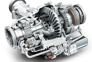 Model of electronically limited slip differential.
