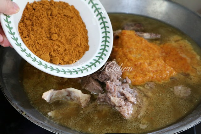 Gulai Darat Kelantan Tulang Lembu Yang Sangat Sedap