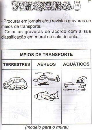 Atividades Meios De Transporte Mundinho Da Crianca