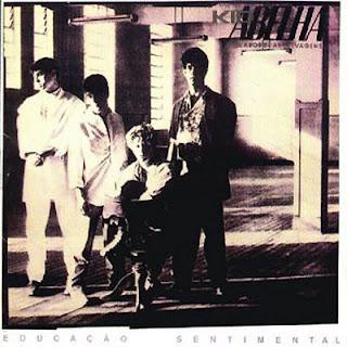 """Capa do disco """"Educação Sentimental"""", lançado em 1985 pelo grupo Kid Abelha -"""