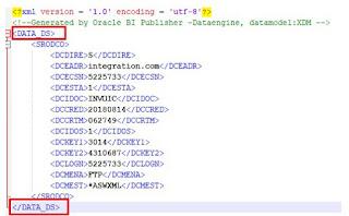 xml1 - How to modify XML tags in BI Publisher Output?