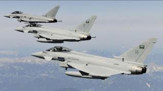"""مراسل """"العربية"""" 13 غارة لمقاتلات التحالف على مواقع الحوثي"""