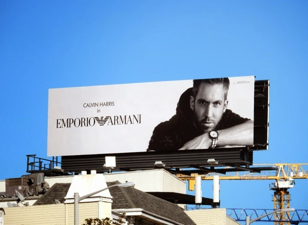 Calvin Harris Emporio Armani watch billboard