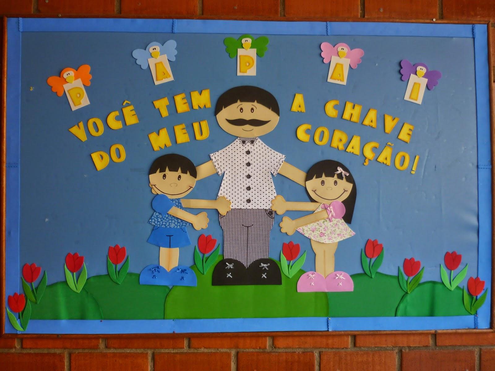 Djair machado gomes dia dos pais em nossa escola for Mural de natal 4 ano
