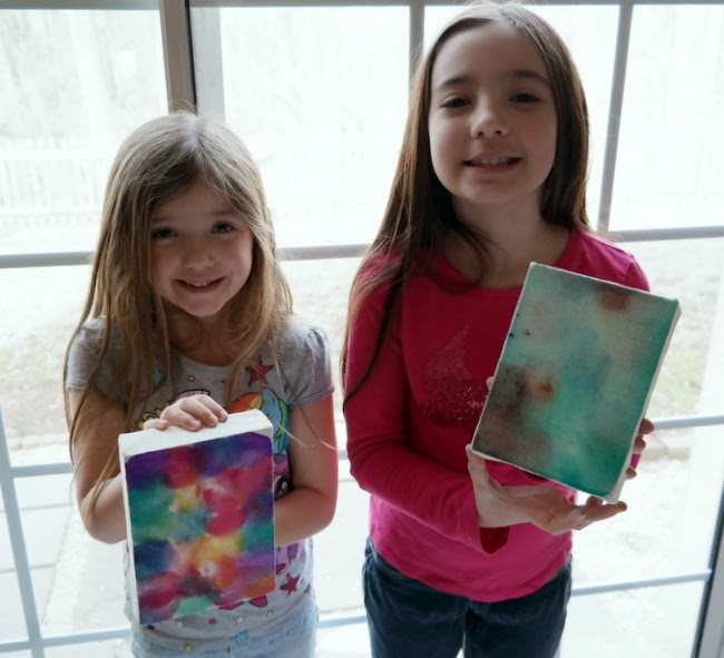 Finished Bokeh Canvases with Kids by Dana Tatar