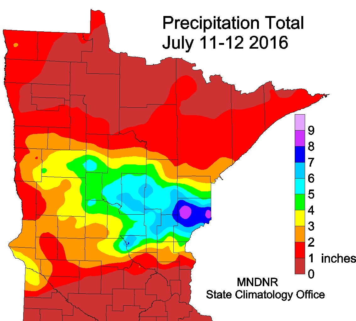 Tim Burrs Weather Blog Summer Climate Summaries Th - Map of southern minnesota
