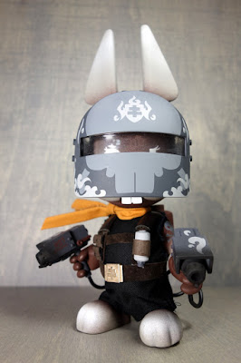 La Flamme Lapin Noir Custom The Blank Resin Figure by Huck Gee