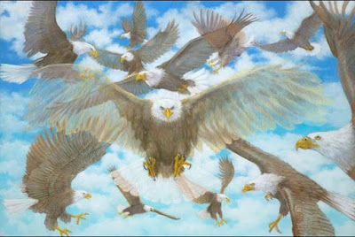 Beloved. I am Gathering My Eagles by Deborah Waldron Fry