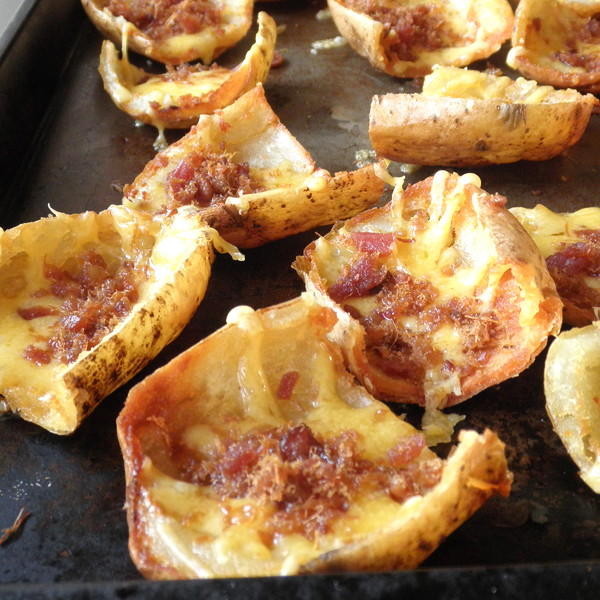Food Pusher: Twice Baked Potatoes   Sort Of