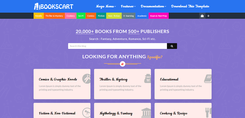 Books Cart Free Blogger Template