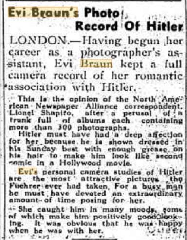 Eva Braun article