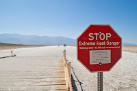 Death Valley Extreme Heat (Credit: Graeme Maclean (Flickr); Licence: CC by 2.0) Click to Enlarge.