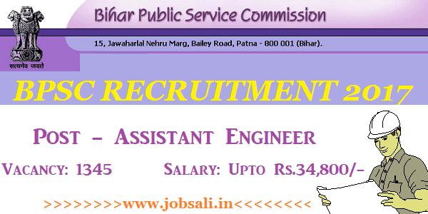 BPSC Engineer Vacancy, Engineering jobs in Bihar, Civil Engineering jobs