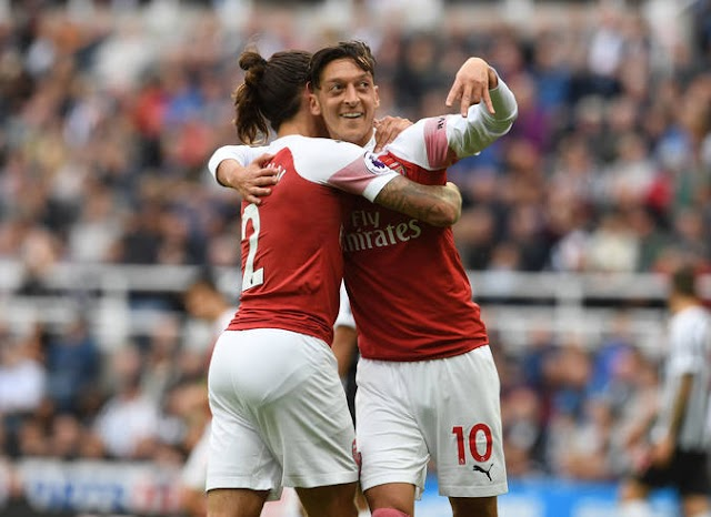 Fans React As Mesut Ozil Slots Home On the Road