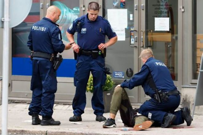 Finland stabbings: Two dead and man shot in Turku