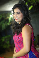 Srushti in beautiful Pink Sleeveless Dress Cute Actress Dimples ~  Exclusive 018.JPG