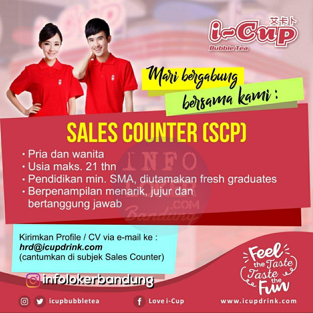 Lowongan Kerja I-Cup  Bubble Tea Bandung Desember 2018