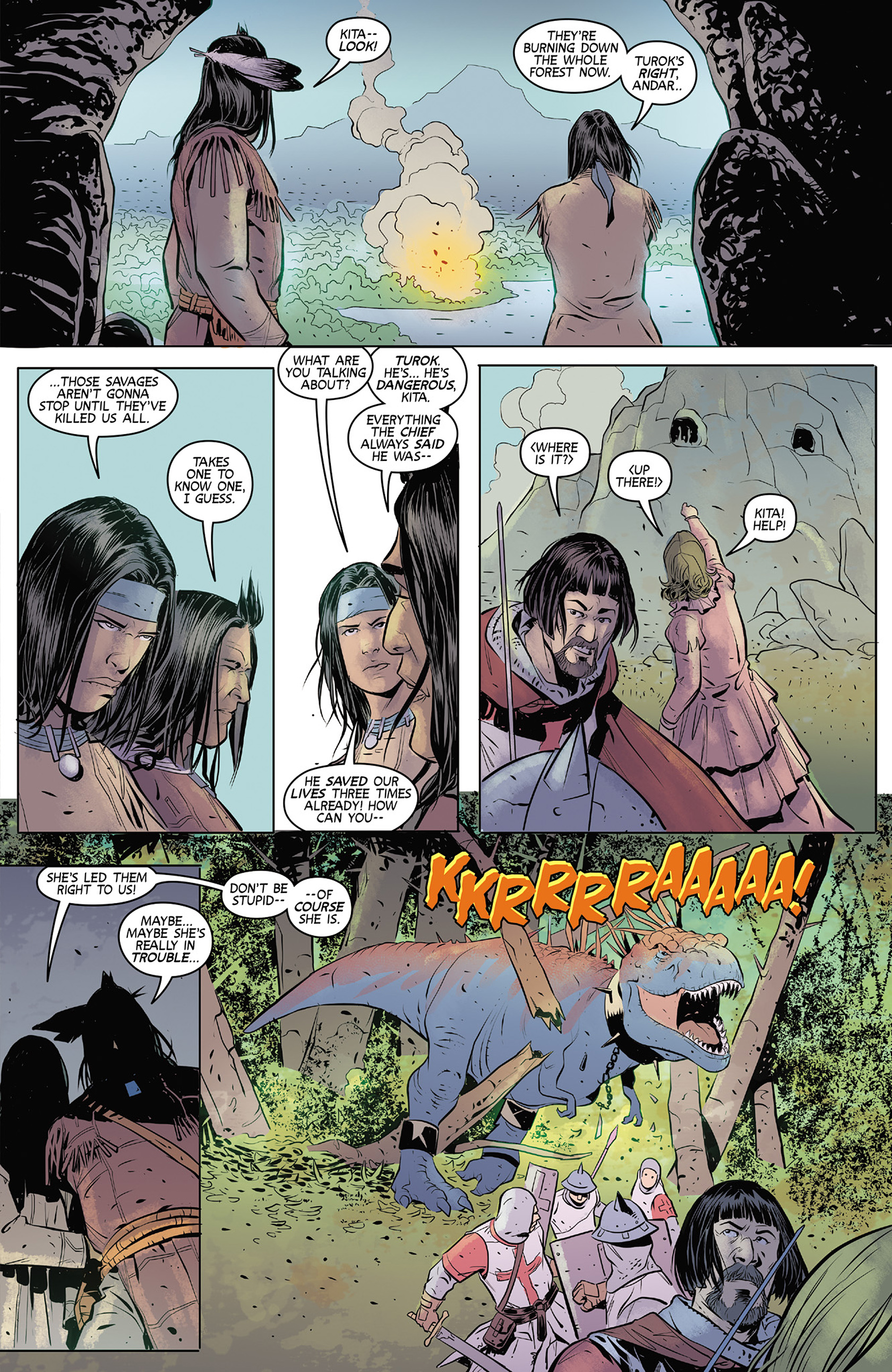 Read online Turok: Dinosaur Hunter (2014) comic -  Issue #4 - 9