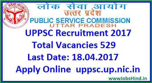 UPPSC Recruitment 2017