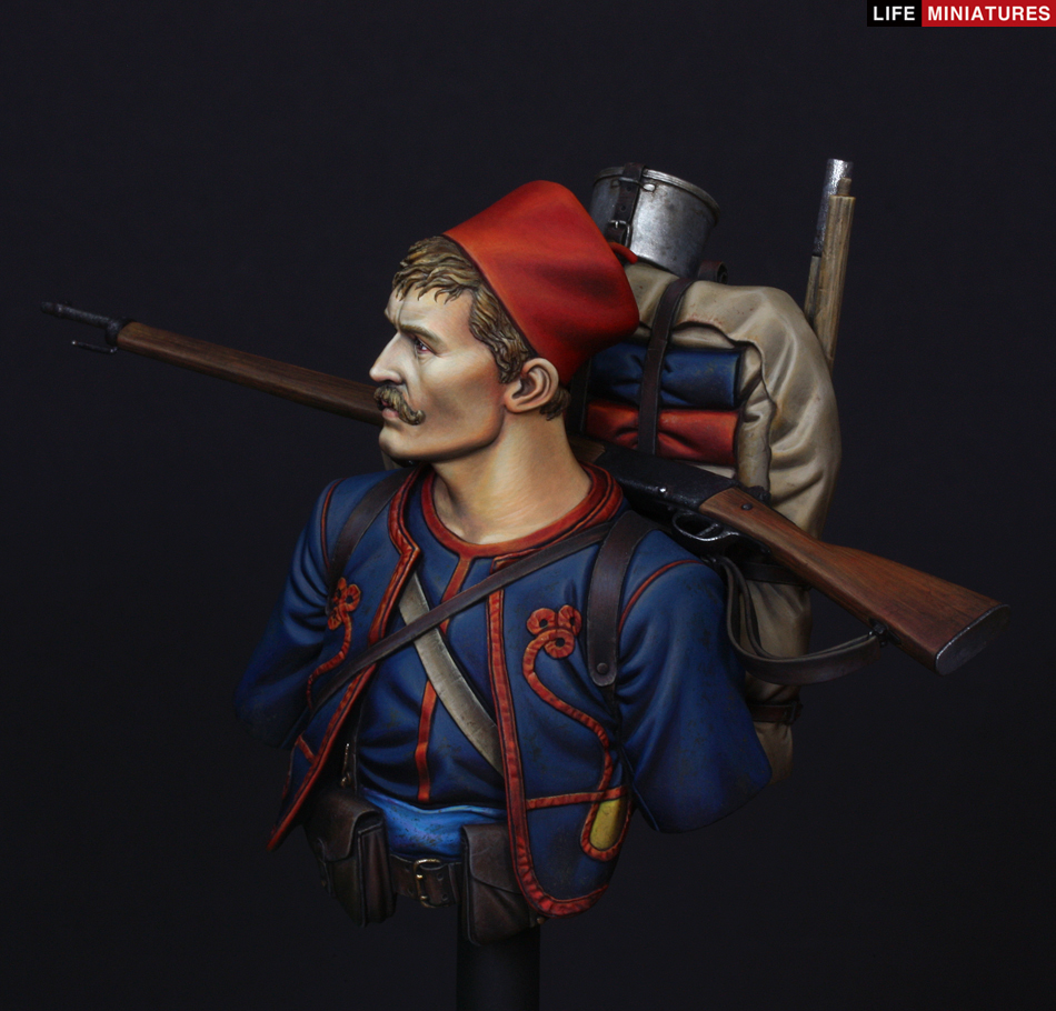 Life Miniatures French Zouave 1914 1//10th Bust Unpainted kit
