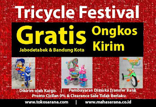 Baby Tricycle Fest - Free Ongkir