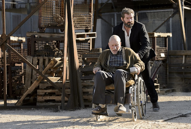logan movie still patrick stewart hugh jackman