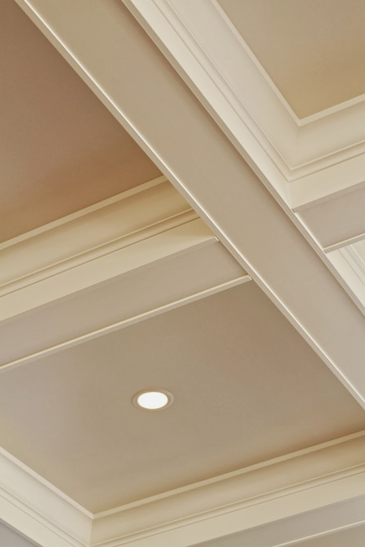 White Wood : My next big DIY project... Coffered Ceilings