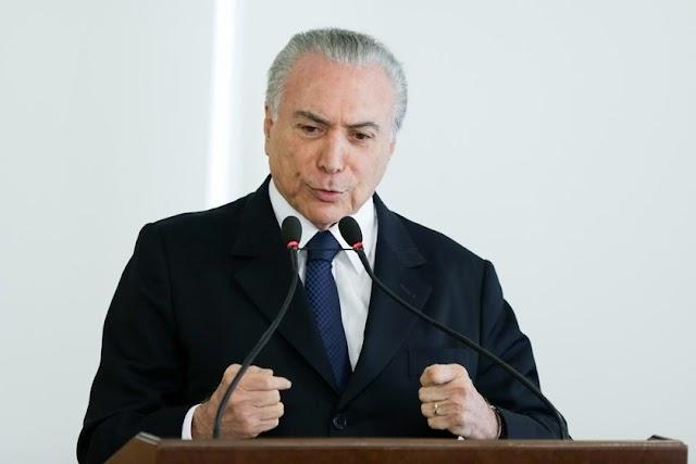 Brasil criou 790 mil postos de trabalho este ano, anuncia Temer