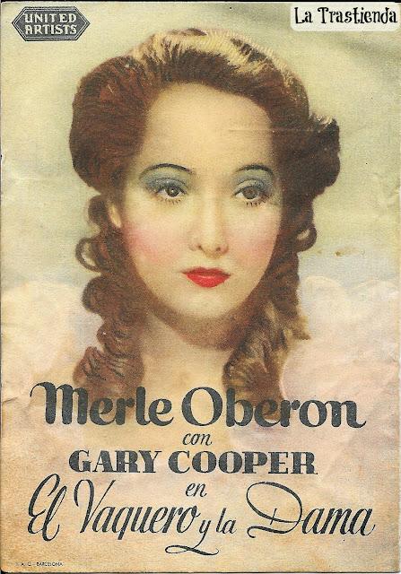 Programa de Cine - El Vaquero y La Dama - Gary Cooper - Merle Oberon