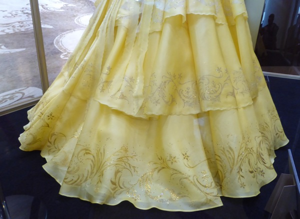 Beauty and the Beast Belle yellow gown detail