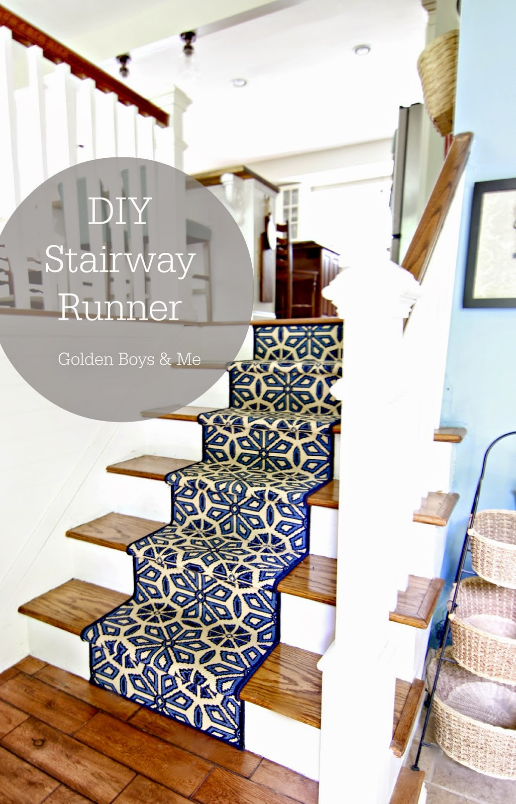 Split Entry Stairway Google Search: Golden Boys And Me: DIY Stair Runner