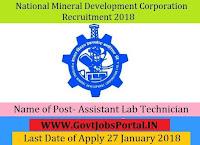 National Mineral Development Corporation Recruitment 2018 – 46 Maintenance Assistant, Assistant Lab Technician