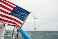 The Block Island Wind Farm in Rhode Island is the United States' first-ever offshore wind farm. (Credit: NREL/flickr) Click to Enlarge.