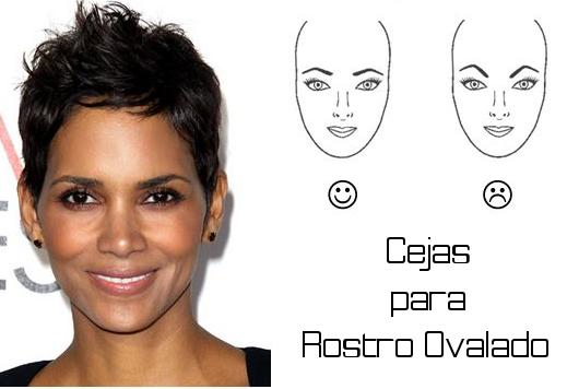 como dibujar las cejas para un rostro ovalado
