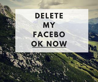 delete my facebook now