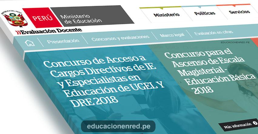 MINEDU: Inscripción de Docentes a Concurso de Ascenso de Escala Magisterial - Cargos Directivos de IE y Especialistas en Educación de UGEL y DRE - www.minedu.gob.pe