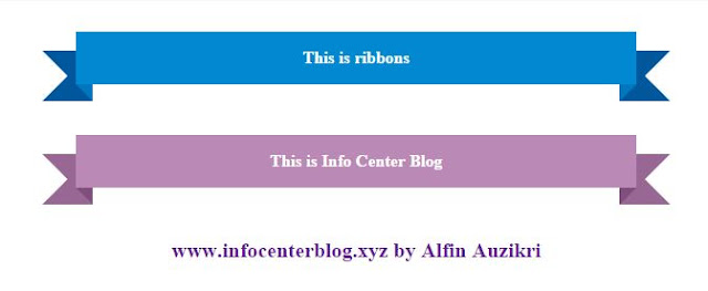 Ribbon Dengan Effect CSS Keren