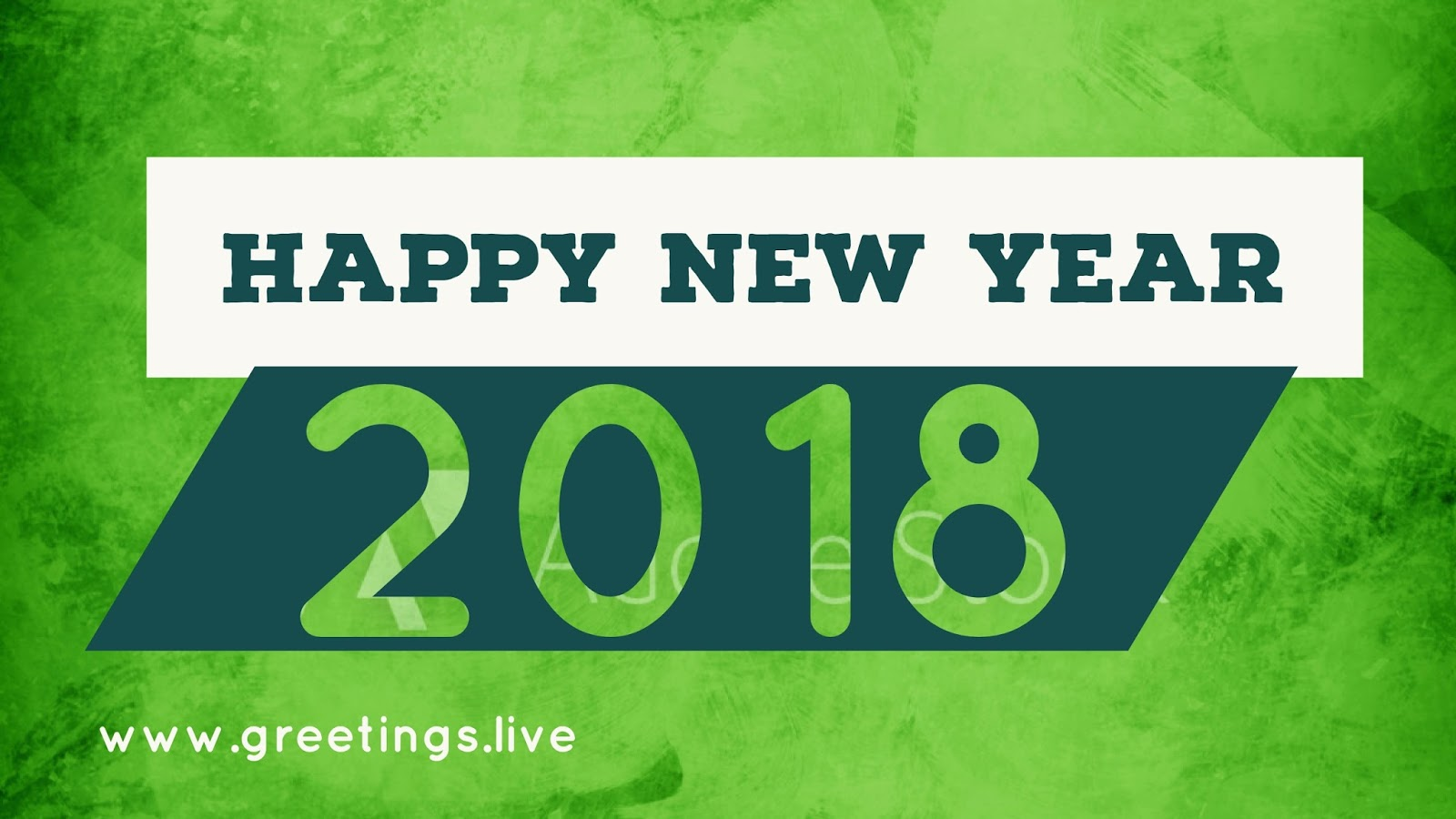 New Year Wishes In Green Color Background