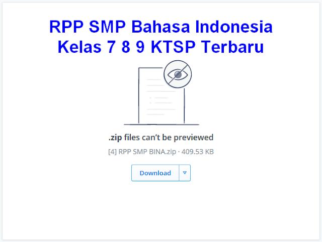 RPP SMP Bahasa Indonesia Kelas 7 8 9 KTSP