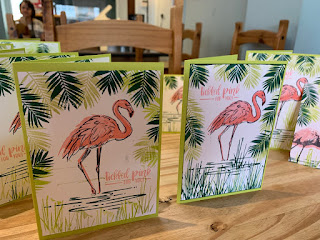 Fabulous Flamingo cards at Coffee and Cards Stampin Up